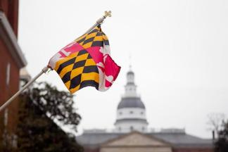 Annapolis-State-House-MD-flag