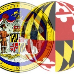 Maryland Seal & Flag Sphere