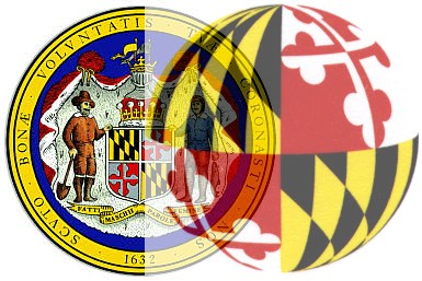 Maryland Seal & Flag Sphere